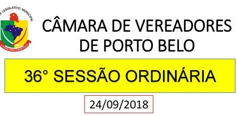INFORMATIVO CÂMARA DE VEREADORES 36° SESSÃO ORDINÁRIA 2018