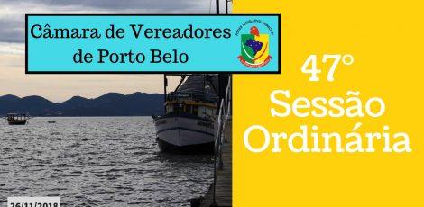 INFORMATIVO CÂMARA DE VEREADORES 47° SESSÃO ORDINÁRIA 2018