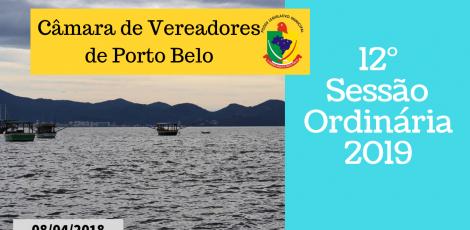 12° SESSÃO ORDINÁRIA 2019